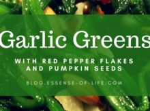 Garlic Greens with Red Pepper Flakes and Pumpkin Seeds at blog.essense-of-life.com