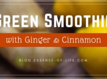 Green Smoothie with Ginger and Cinnamon at blog.essense-of-life.com