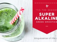 'Tis the Season Super Alkaline Green Smoothie Recipe at blog.essense-of-life.com