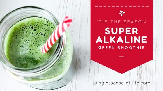'Tis the Season Super Alkaline Green Smoothie Recipe at blog.essense-of-life.com